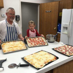 Dinner pizza Ron Bethany